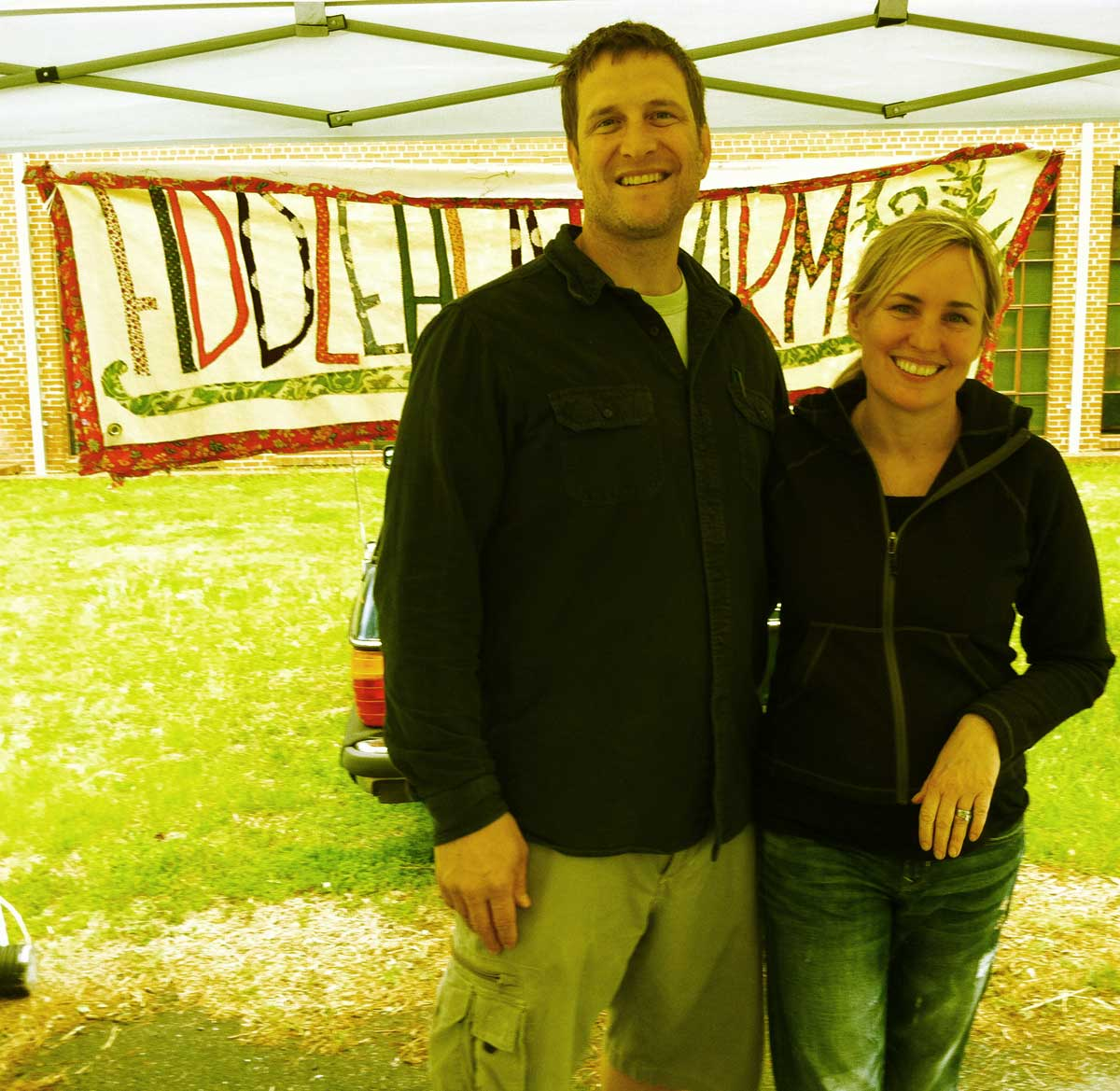 Emily and David with Fiddlehead Farm @ Chatham Mills Farmers Market