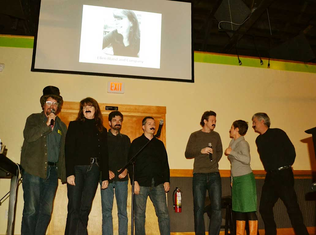 The speaker lineup at a recent Pecha Kucha.