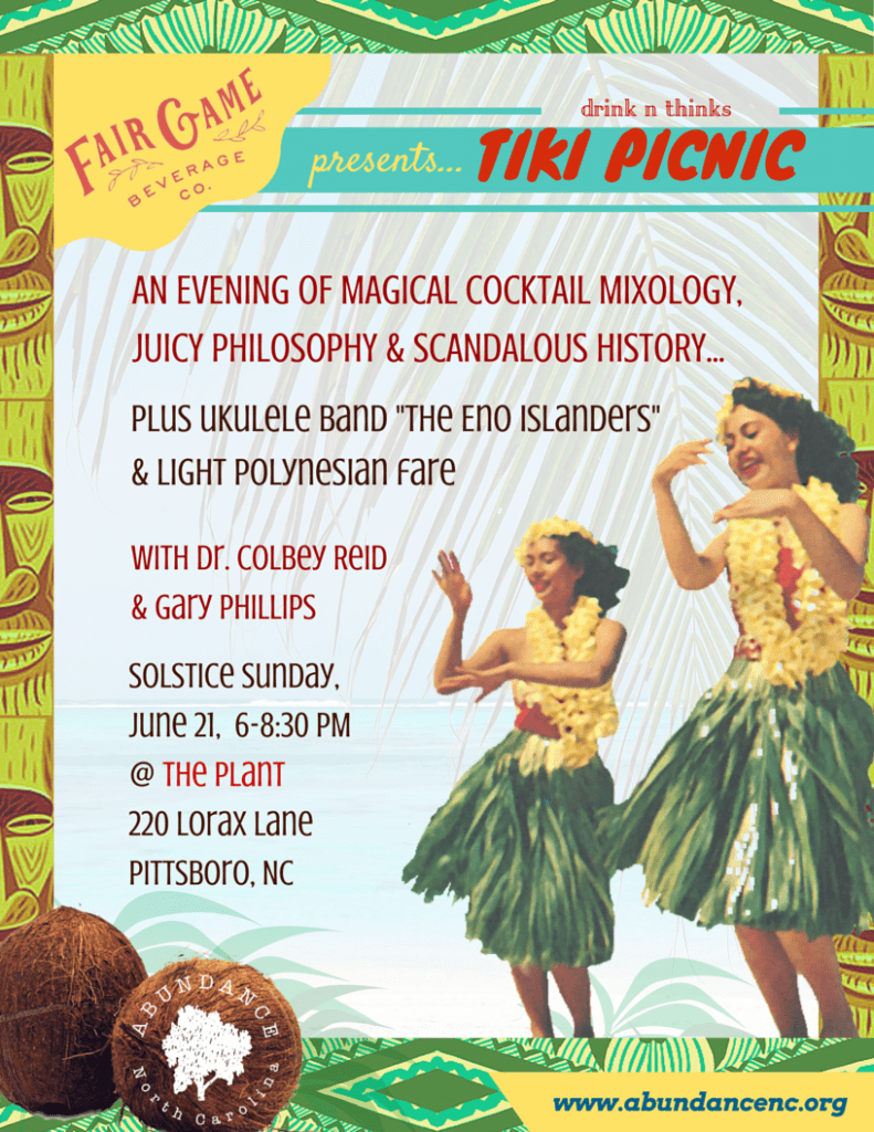 Drink 'n Thinks: Session Two – Tiki Picnic