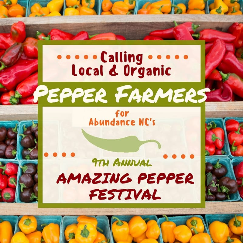 2016 Call to Pepper Farmers