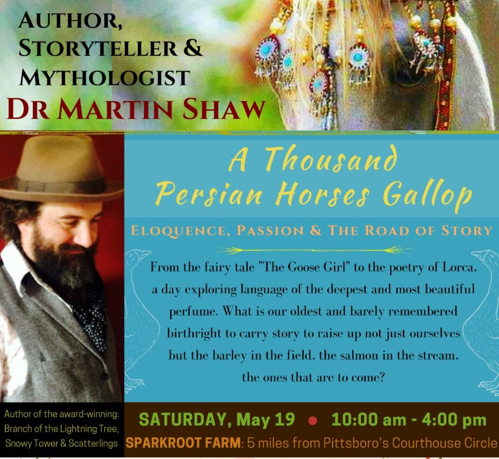 Mythtelling with Dr. Martin Shaw at Sparkroot Farm