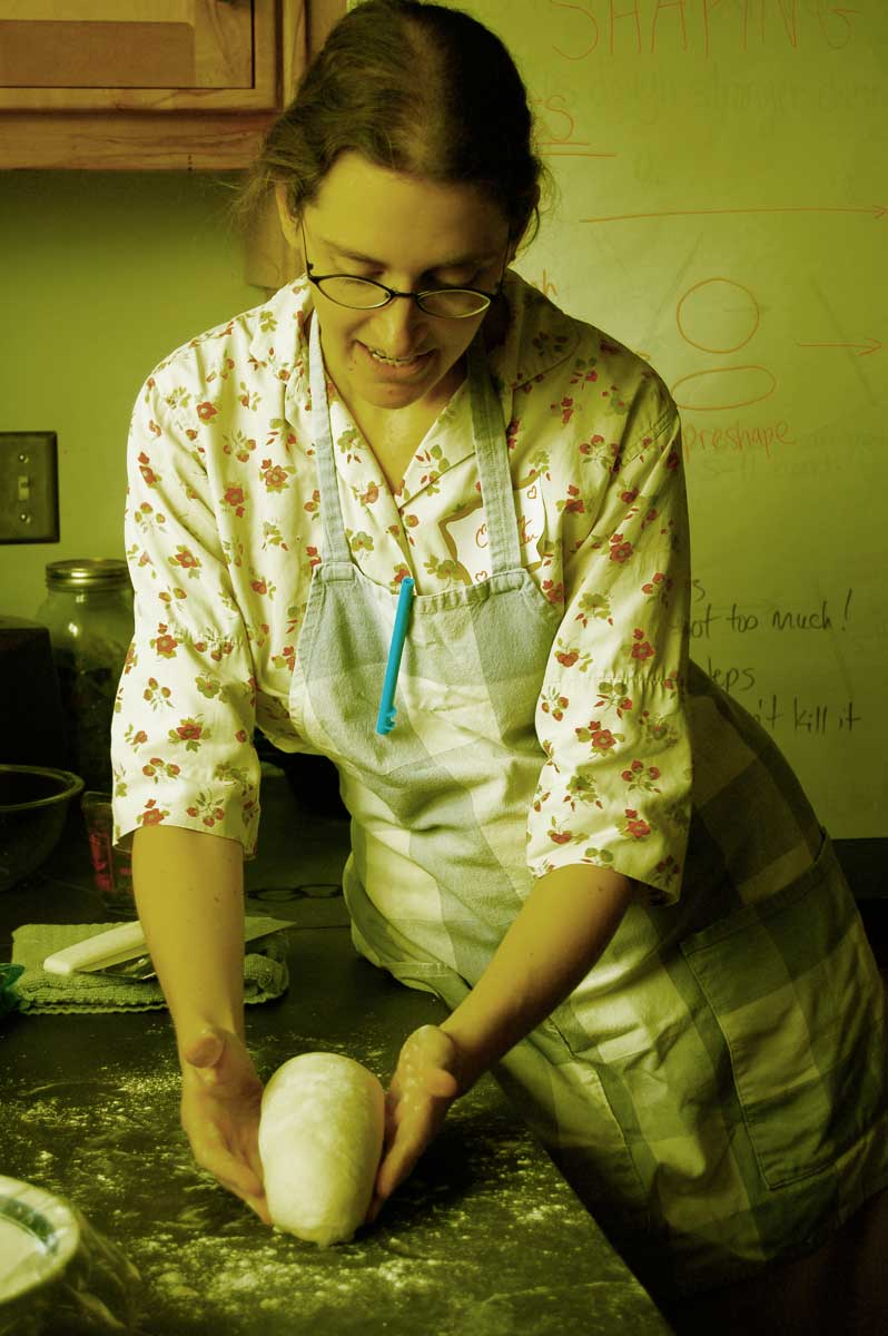 Emily Buehler teaches the science of bread.