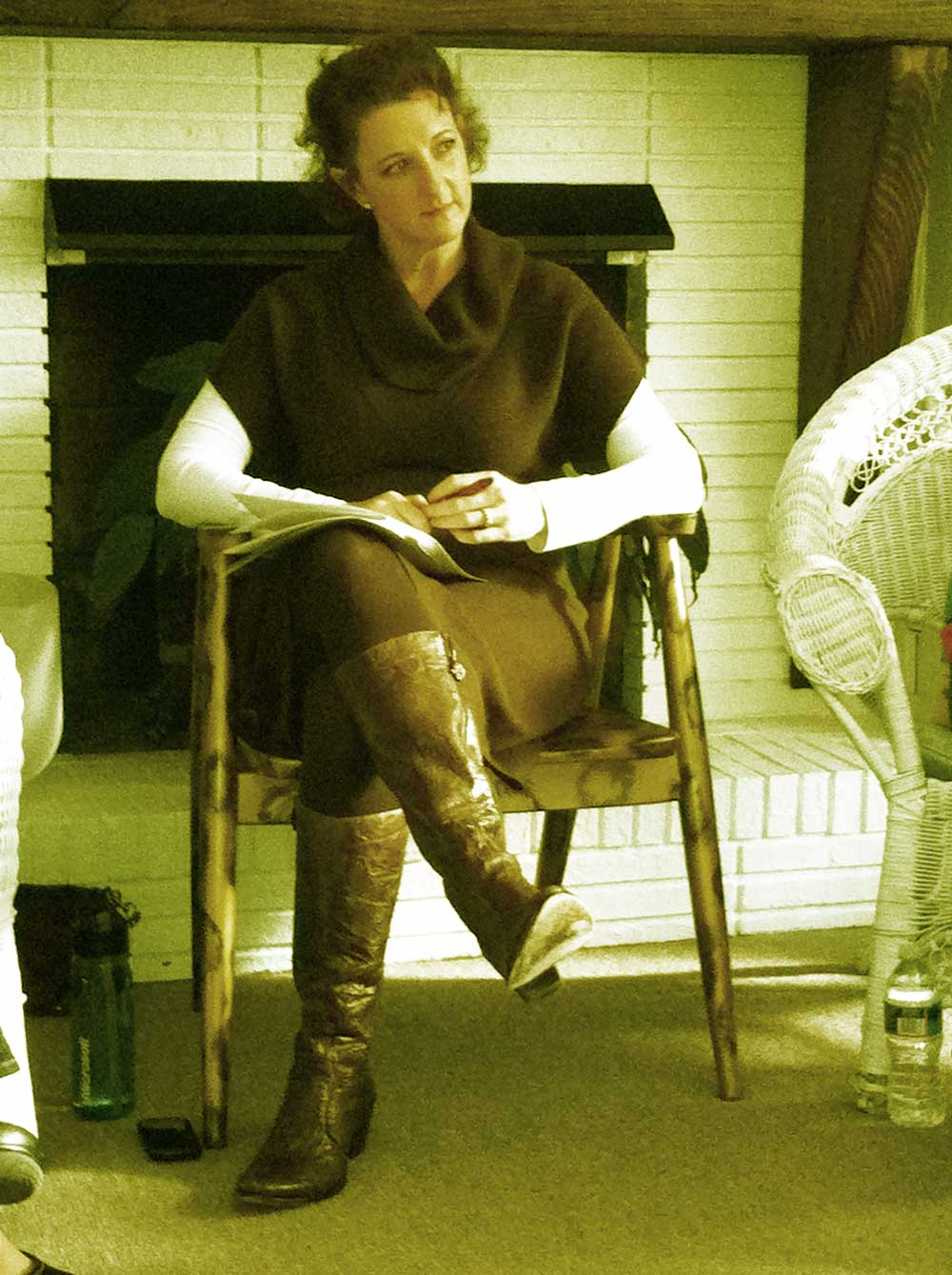 Lisa Dion leading a Manifest Abundance workshop.