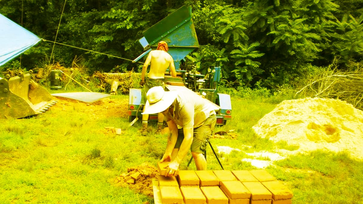 Earth brick construction is a skill you can learn at the Small House Convergence this weekend.