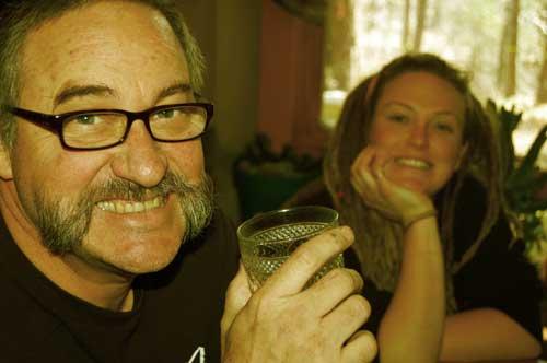 Gary and McCayne @ Board retreat held at Gary's rammed earth home.