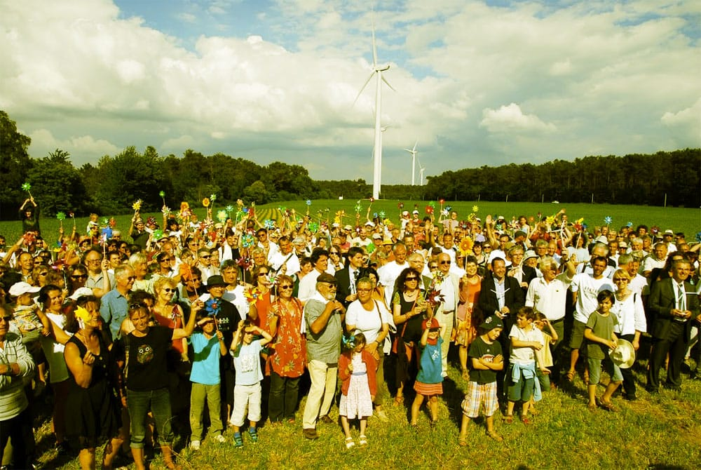 The launch of France's first community-owned wind farm. Photo: Ecolise.