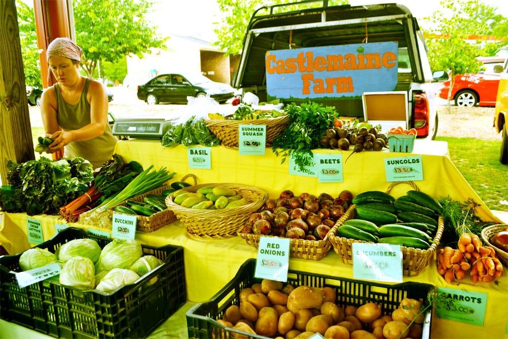 Castlemaine Farm fresh produce.