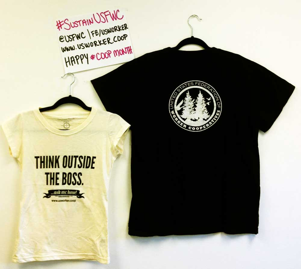 Think outside the boss! Shirts sewn by Opportunity Threads.