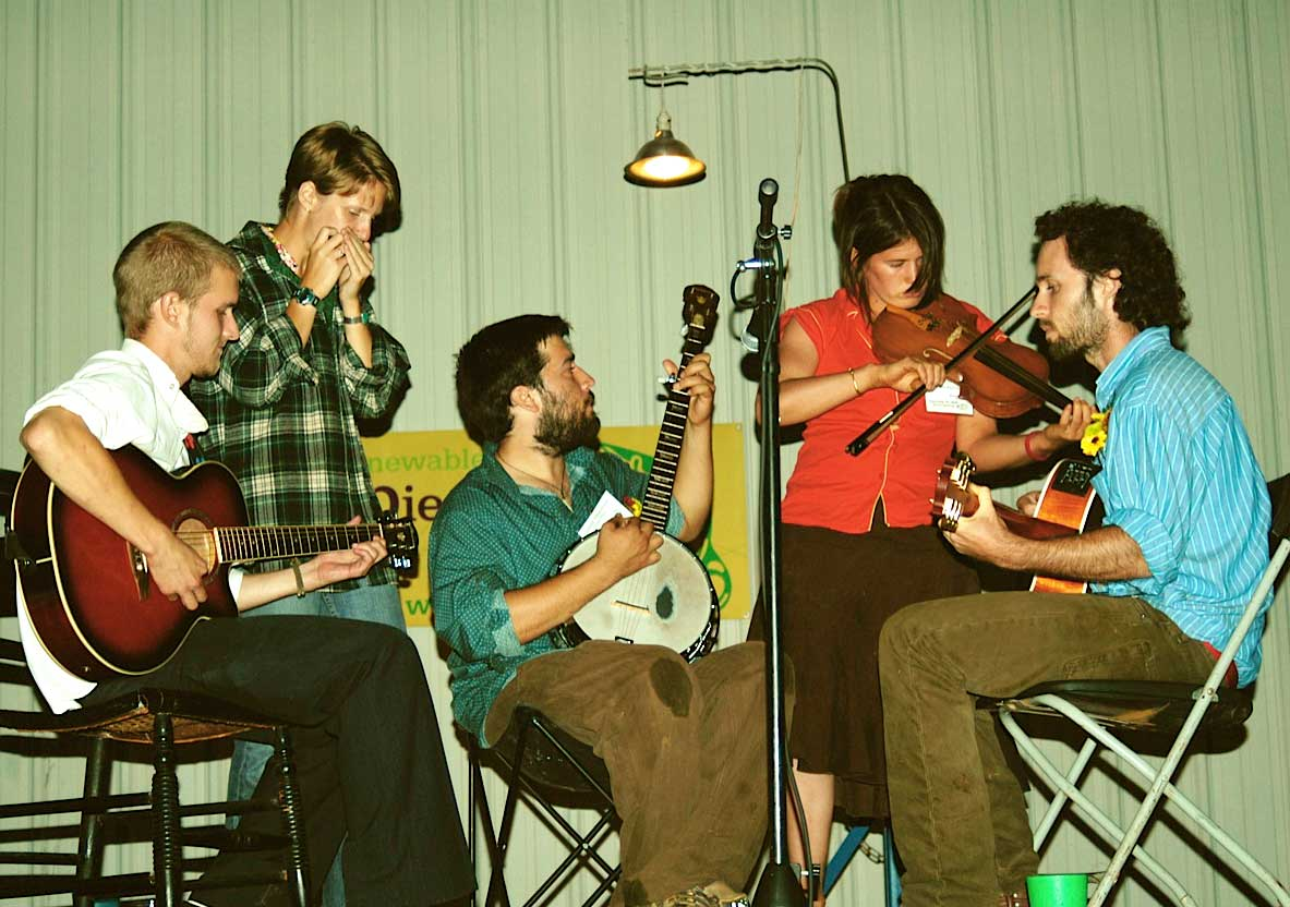 A string band composed of biofuels interns.
