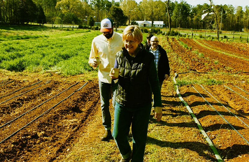 Watching seeds grow, organically, with Judy Lessler of Harland's Creek Farm