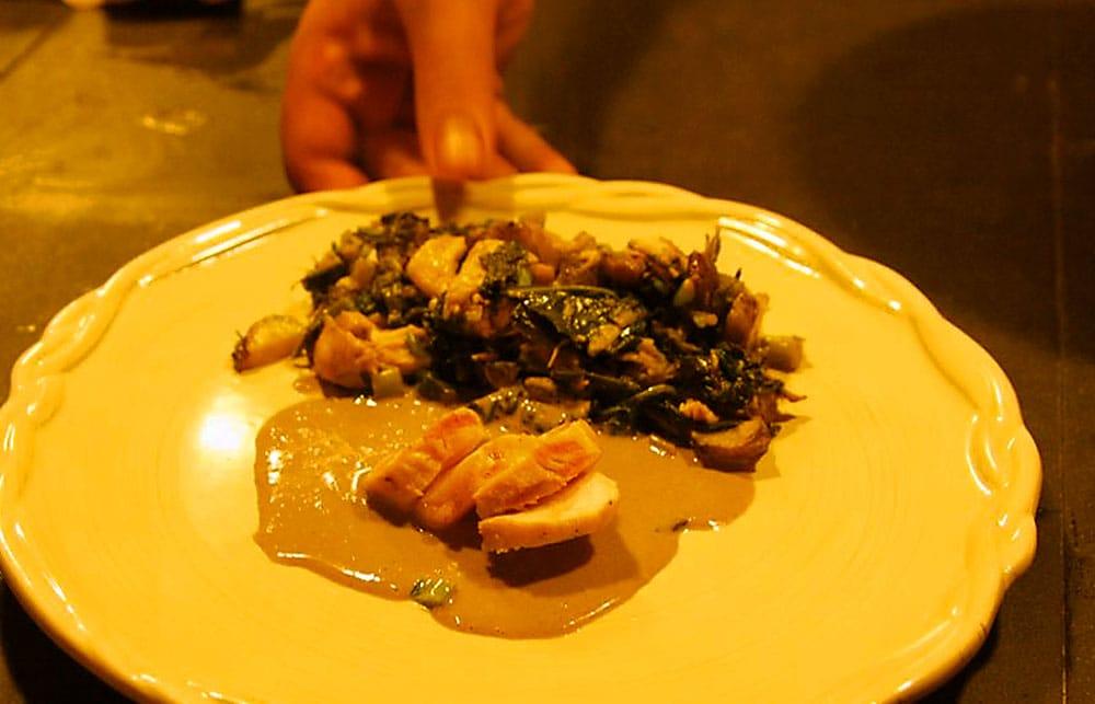 Fatty Owl Rabbit, prepared by local chef Geoff Selen, for Piedmont Biofarm's recent Farm to Table Dinner.