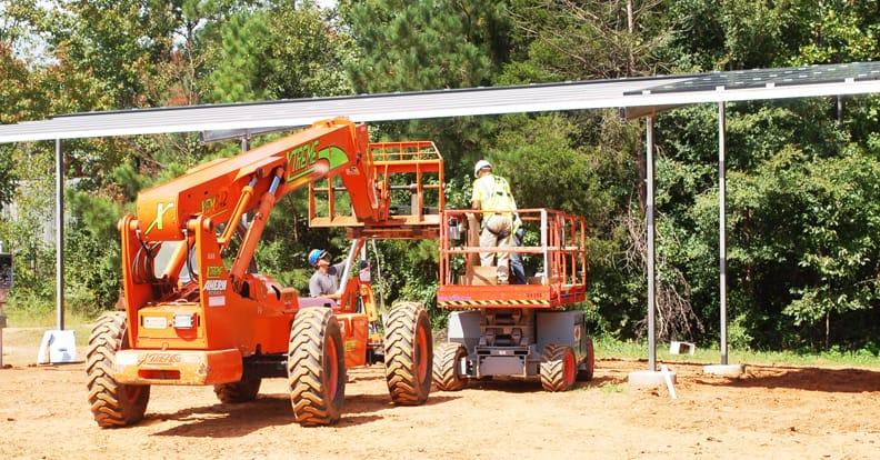 building solar double crop