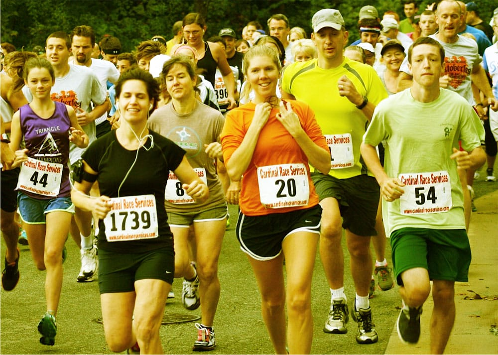 Runners in the Earth Day 5K.
