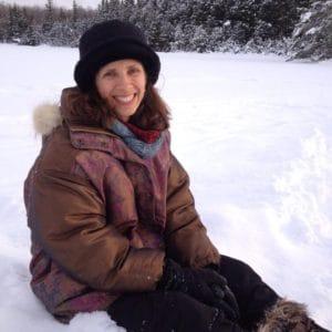 shelley in snow